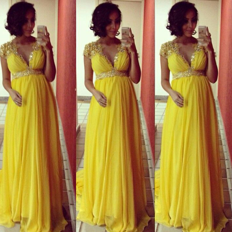 yellow plus size maternity bridesmaid dresses  boutique prom dresses, Baby shower invitation