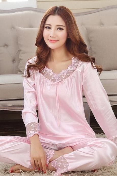 Pajamas Suit ,Pajamas Set with Sleeve,Women Lounge Wear,Soft Breathable Sleep Wear